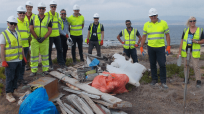 Big beach clean up for Cyprus team