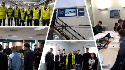 Students visit the UK's first battery industrialisation centre