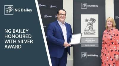 Silver Award Recognises NG Bailey as a Forces-Friendly Employer