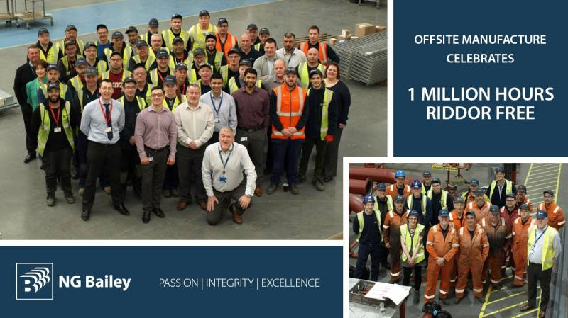 NG Bailey reaches 1 million RIDDOR free hours at its Offsite facilities