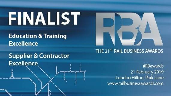 NG Bailey shortlisted for two Rail Business Awards