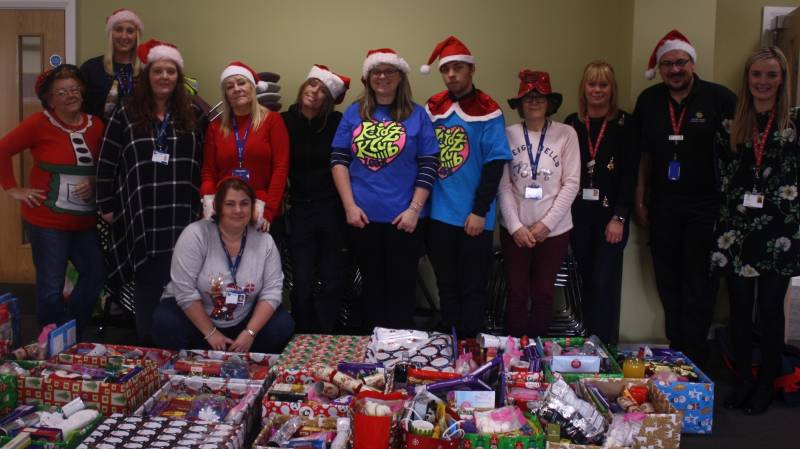 Over 40 festive hampers donated to Kidz Klub Leeds